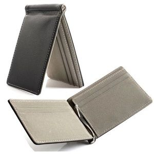 NEW Mens Slim Money Clip Wallet Minimalist
